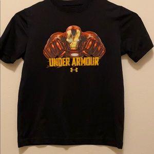 Boys Under Armour Iron Man T-shirt.